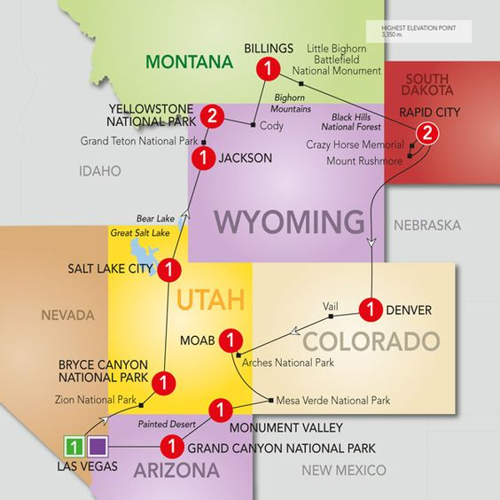 Popular 14 day trip visiting Monument Valley, Grand Canyon, Bryce Canyon, Yellowstone, Grand Teton and more....Scenic Parks Explorer.