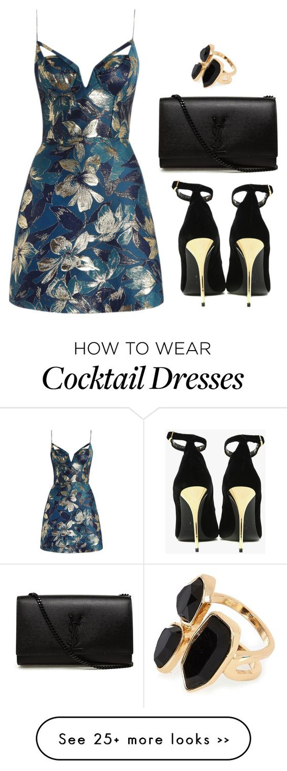 """Untitled #522"" by lauraafreedom on Polyvore featuring Zimmermann, Balmain, Yves Saint Laurent and River Island:"