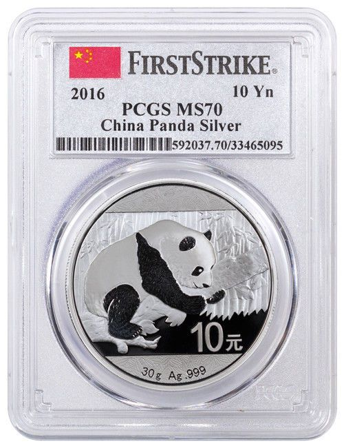 2018 10 Yuan China Silver Panda Coin 30 Gram .999 Silver PCGS MS70 First Strike