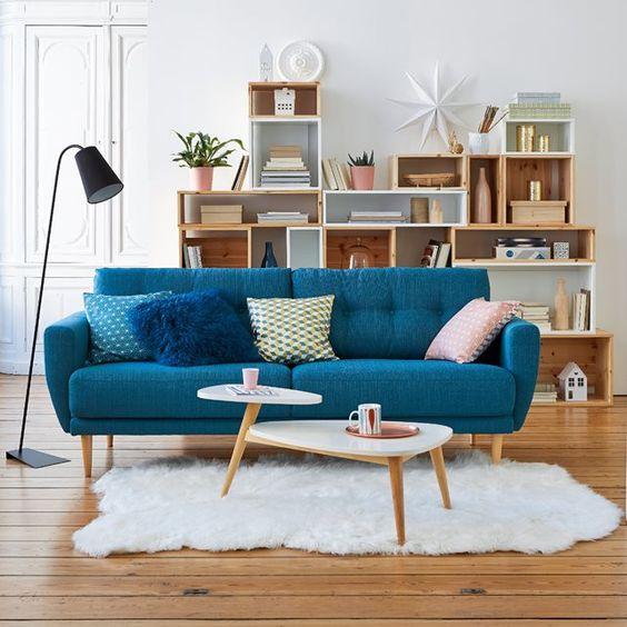 Chọn mua sofa da tphcm cao cấp theo tông màu xanh dương