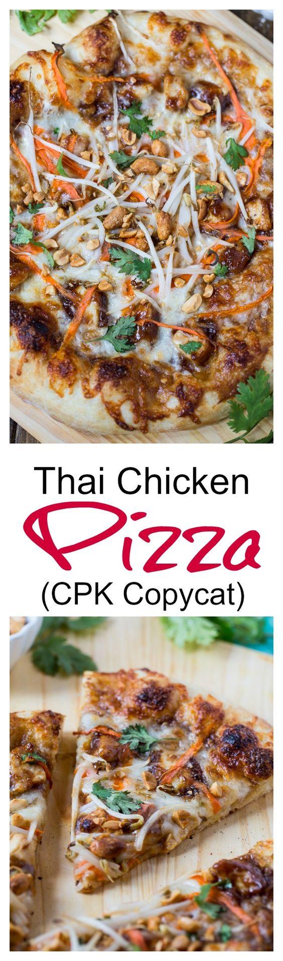 Thai Chicken Pizza (California Pizza Kitchen copycat)