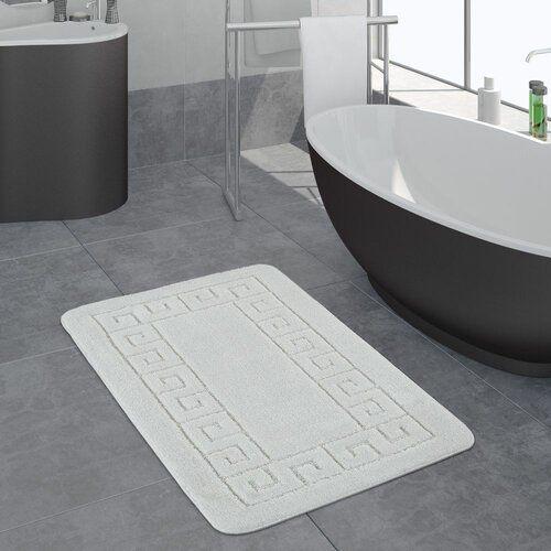 Birchwood Bath Mat Longweave Size 50 X 80cm Colour White Bath