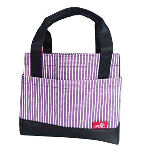 SandistoreInsulated Portable Thermal Lunch Carry Tote Storage Travel Picnic Bag (Purple). Material: Oxford. Size: Approx :21cmX13cmX19cm. Closure type:Zipper. Hardness:Soft. It can be used for picnic,travel and working.