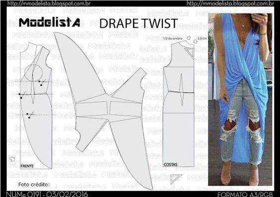 ModelistA: A3 NUM o 0191 DRAPE TWIST: