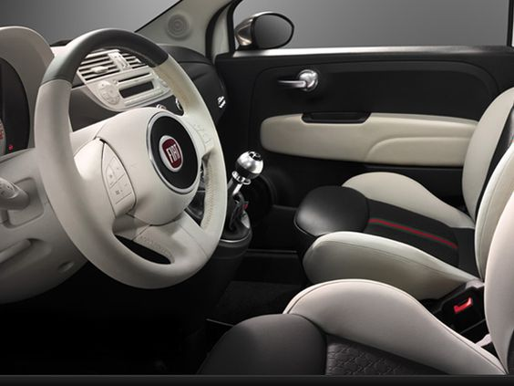 fiat 500 gucci interior white brands around us pinterest interiors gucci and fiat 500. Black Bedroom Furniture Sets. Home Design Ideas