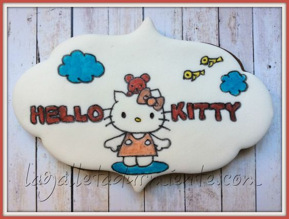 Galleta Hello Kitty decorada a mano