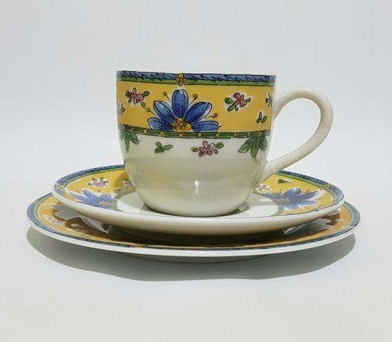 Old Narumi China One Set Handpainted Floral Cup by CecysAsianShop