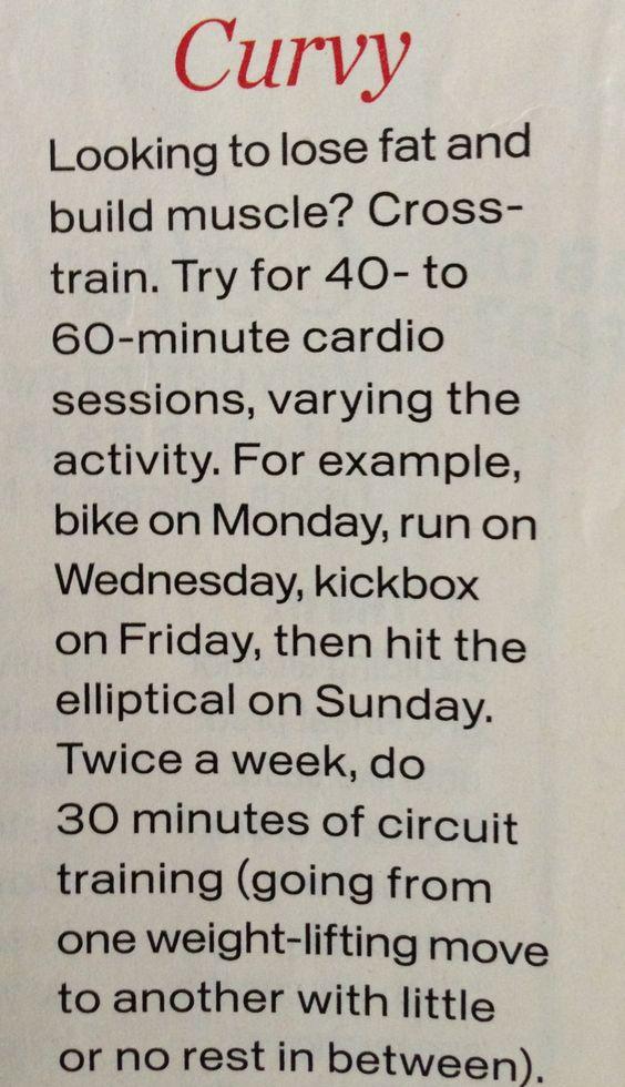 Curvy workout plan