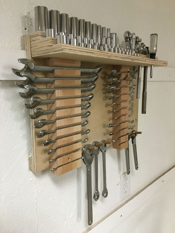 I like this ** french cleat device storage for wrenches - Google Search...
