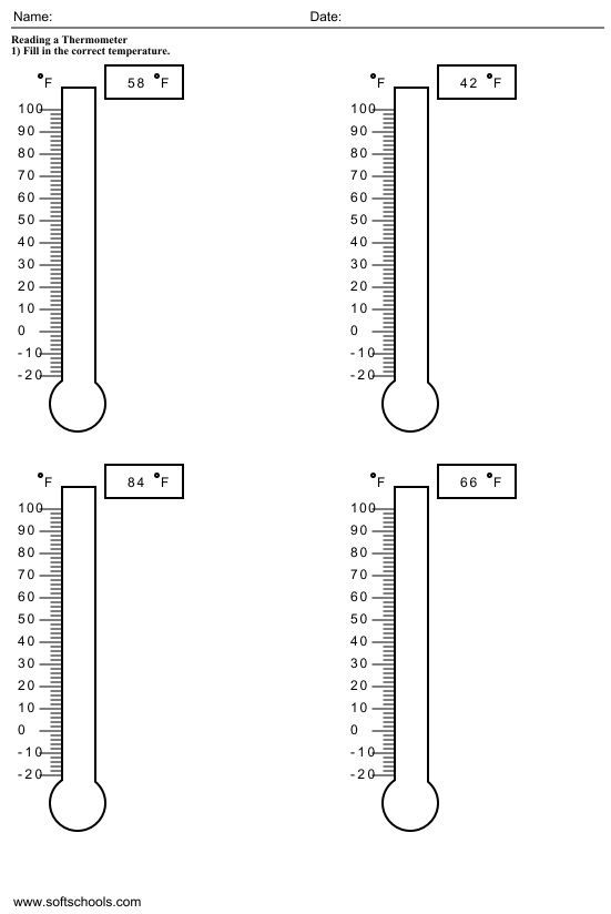 Printables Thermometer Worksheets grade 1 2nd grades and worksheets on pinterest temperature for 1