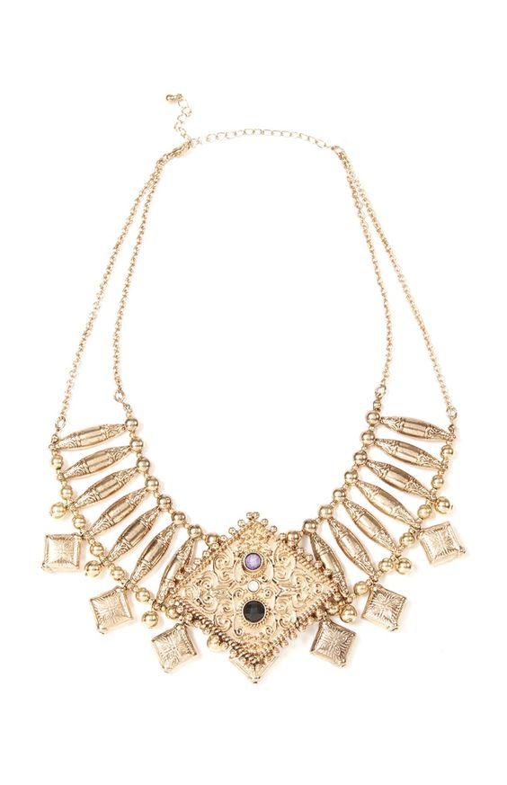 Primark - Statement-Halskette mit Ziersteinen