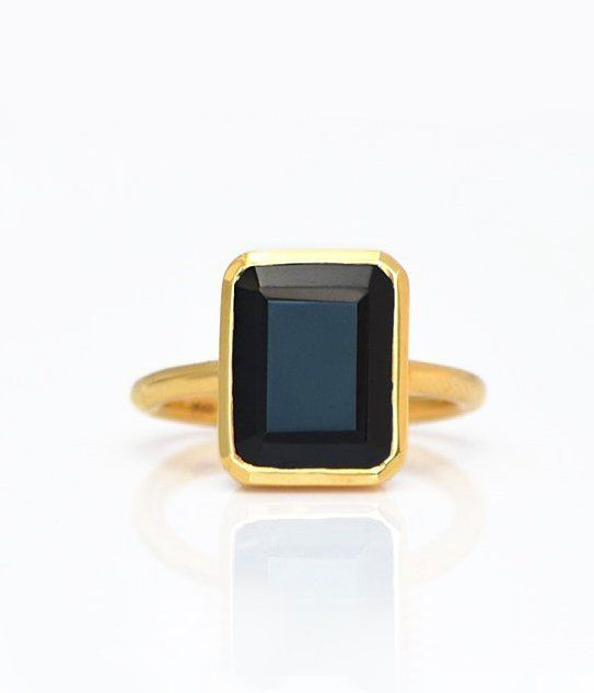 Handmade Jewelry Yellow Onyx Ring Size 5 Statement Rings Gemstone Ring 925 Silver Plated Jewelry