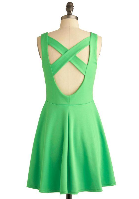 Green Appletini Dress | Mod Retro Vintage Dresses | ModCloth.com ...