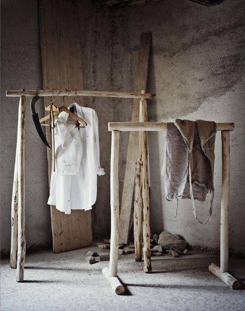 homemade wooden rack
