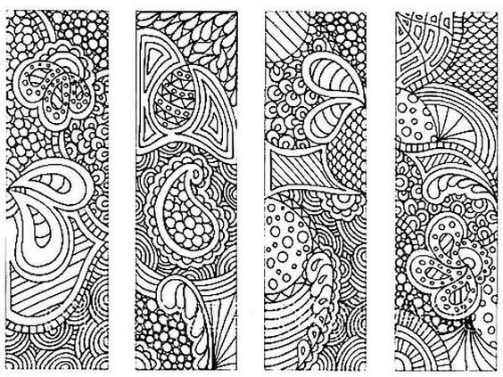 This beautiful graphic can be colored in with any media and used as a custom bookmark.: