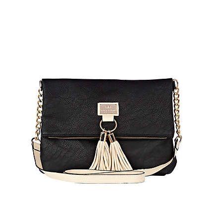 black tassel front messenger bag - cross body bags - bags / purses - women - River Island