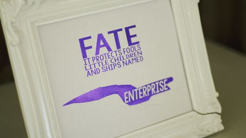 Star Trek The Next Generation Ships Named Enterprise Foil Print