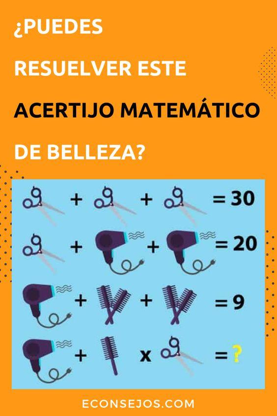 Acertijo Matemático: resuelve sumando o multiplicando productos de belleza #Econsejos #Adivinanzas #Acertijos #Pasatienpos #AcertijosMatematicos
