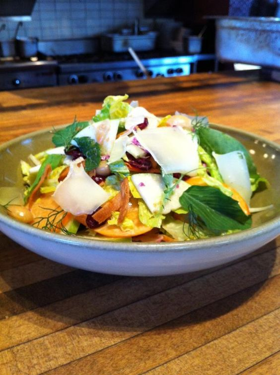 Farmstead chopped salad with granny smith apples, fuyu ...