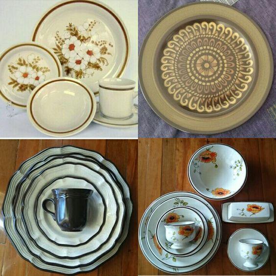 Vintage Japanese Stoneware Dinnerware
