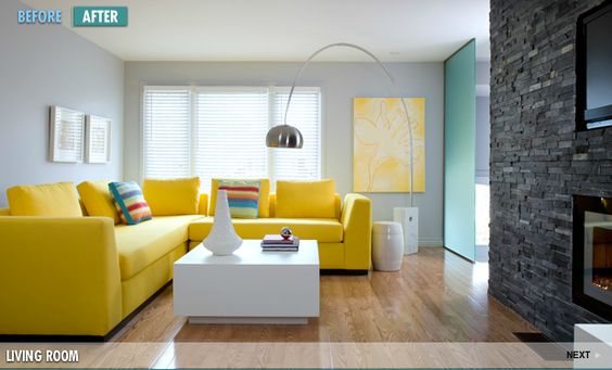 Home Heist Yellow sofa