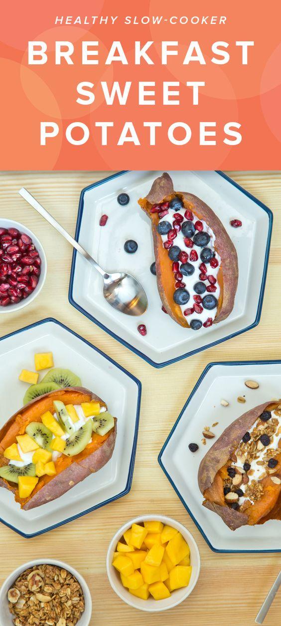 Slow cooker breakfast sweet potatoes recipe running for Slow cooker breakfast recipes for two