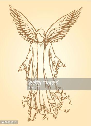 Peaceful Angel Sketch