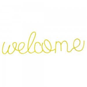 """Welcome"" Hanging Wire"