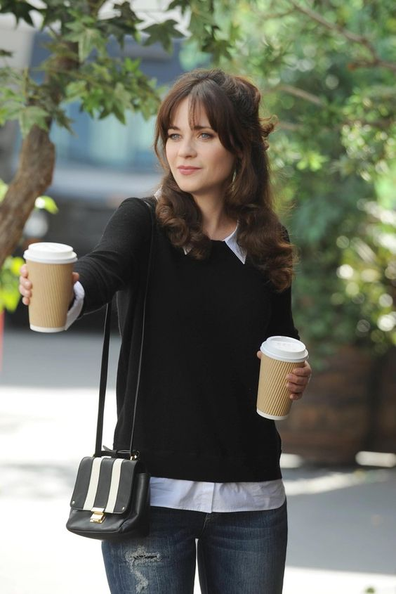 Jessica Day (Jess) | LookLive. Lest we forget that a sweater and button down never looks bad. --e