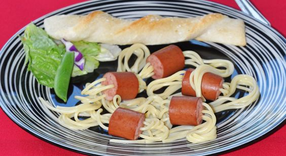 Noodle Weenies | Recipe | Noodles, Spaghetti and Hot Dogs