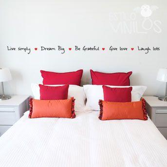 vinilos frases para dormitorios buscar con google