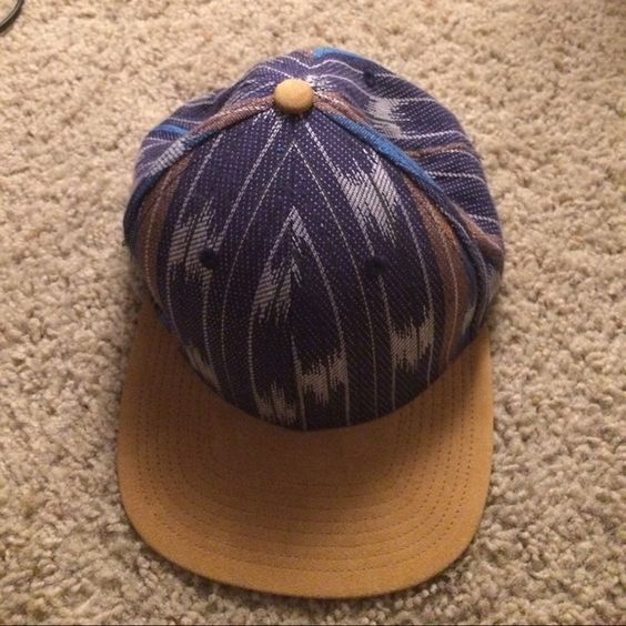 Tillys Coal Headware hat Multicolored hat with goldish/yellow brim not from Tillys Coal Headware Accessories Hats