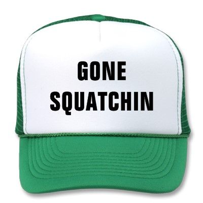 Original GONE SQUATCHIN Trucker Hat just like Bobo's from Finding Bigfoot! AAAAAAAAAAHHHHHHH!!! I LOVE THIS SHOW SO MUCH, AND THIS STUPID HAT IS THE BEST PART!!!! xD xD SO HAPPY I FOUND THIS!!!! :D :D