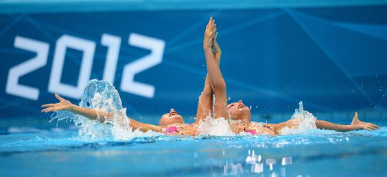 2012 London Olympics - French Swimmers Sara Labrousse and Chloé Willhelm
