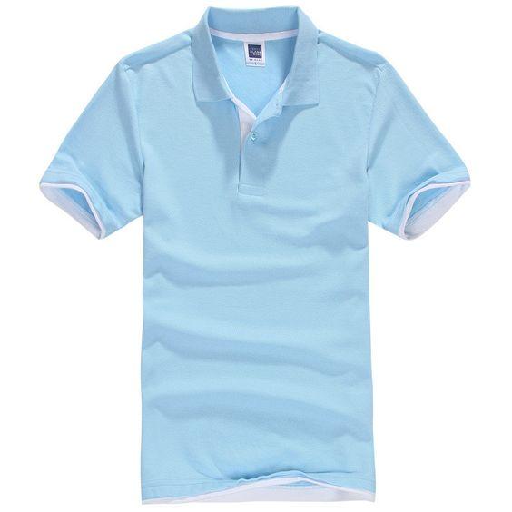 Short Sleeve Cotton Men's Brand Polo Shirt - Golf Tennis | Shirts ...