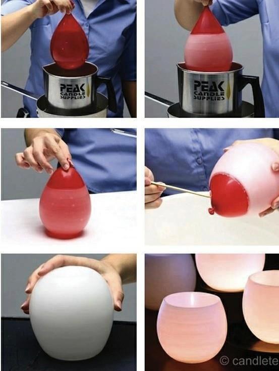 candela con palloncino