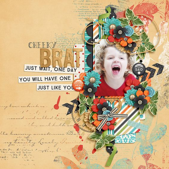 Momisms by Amber Shaw and Tickled Pink Studio http://www.sweetshoppedesigns.com/sw...698&page=2  Just Turn the Page Templates by Two Tiny Turtles