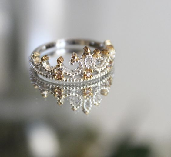 Princess Crown Ring by VAMMJewelry on Etsy, $43.14