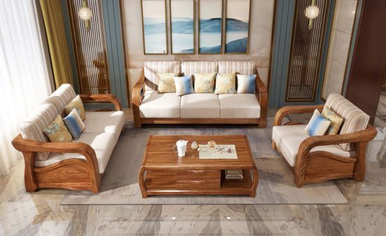 Latest Fabric Sofa Set Living Room Furniture Pictures Of Wooden