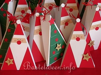 diy advents calendar idea santa clause ornaments basteln advent adventskalender mit. Black Bedroom Furniture Sets. Home Design Ideas