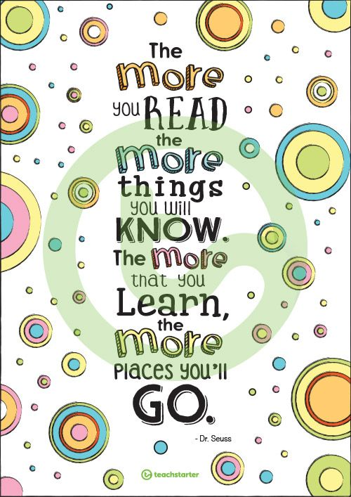 Dr Seuss Posters Teaching Resource Teach Starter Birthday Quotes Funny Dr Seuss Quotes Dr Suess Graduation Quotes