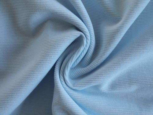 J.Swafing Feincord Babycord hellblau Babyblau blau uni Baumwolle Cord Stoff