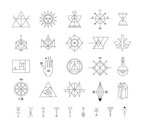 Geometric Shapes Geometric Tattoo Simple Geometric