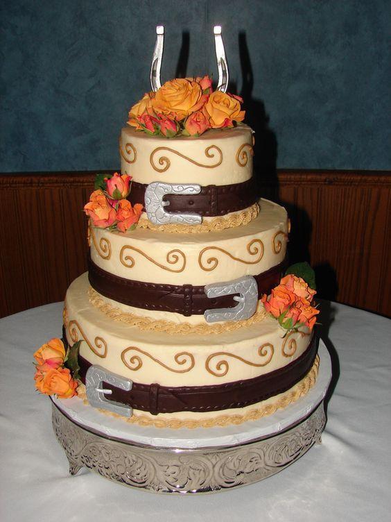 Horseshoe wedding, Horse wedding and Round wedding cakes ...