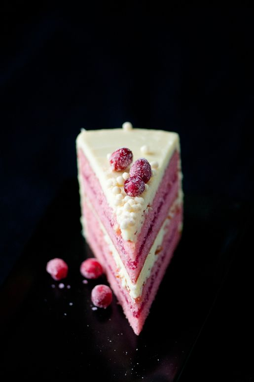 White Chocolate Cranberry Cake: