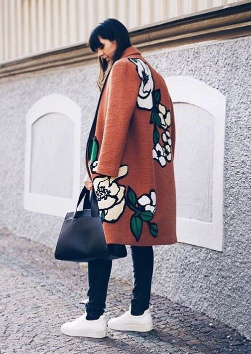 Large floral coat: