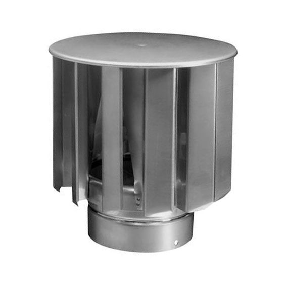 Windgedreven ventilator VT turbine 300mm RVS 1150m3/h