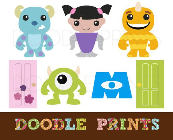 Clip Art Monsters Inc Clipart digital clip art printable monsters inc design sully scrapbook mike boo