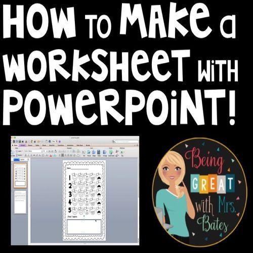 How To Make A Worksheet Using Powerpoint Teacher Created Resources Teachers Pay Teachers Seller School Technology