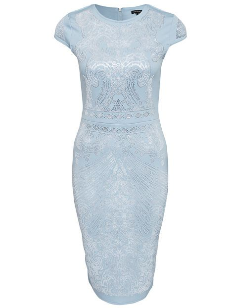 Puff Print Bodycon Dress - River Island - Blue - Party Dresses - Clothing - Women - Nelly.com Uk